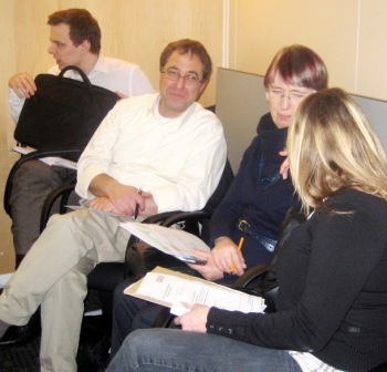 Steve Miller & Bessie White (centre) at one of last year's meetings.