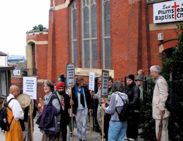 One of South London Inter Faith Group's walks last year.
