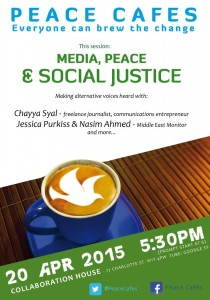 Peace Cafe 20 April 6pm Media