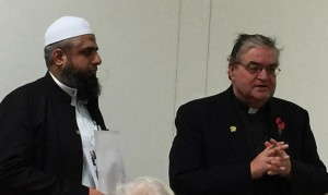 Imam Shoaib Vawda of Wimbledon Mosque with Andrew last November.